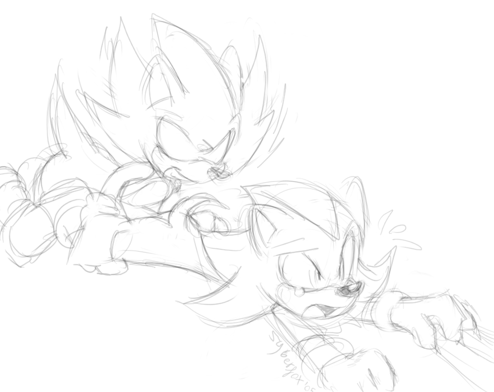 Super Dark Sonic Coloring Pages